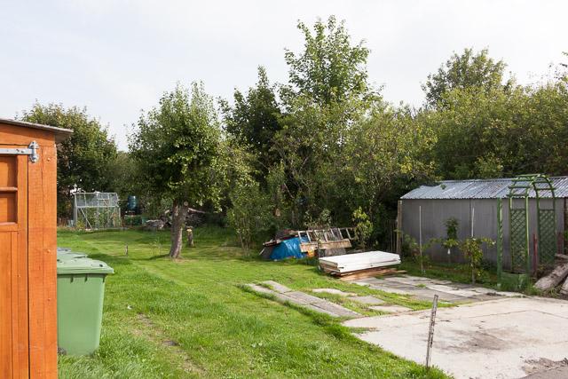 Garden between railway line and The Crescent