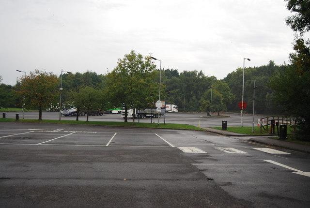 Car park, Rownhams Services (eastbound)
