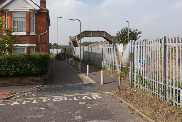Railway footbridge at end of Archers Road