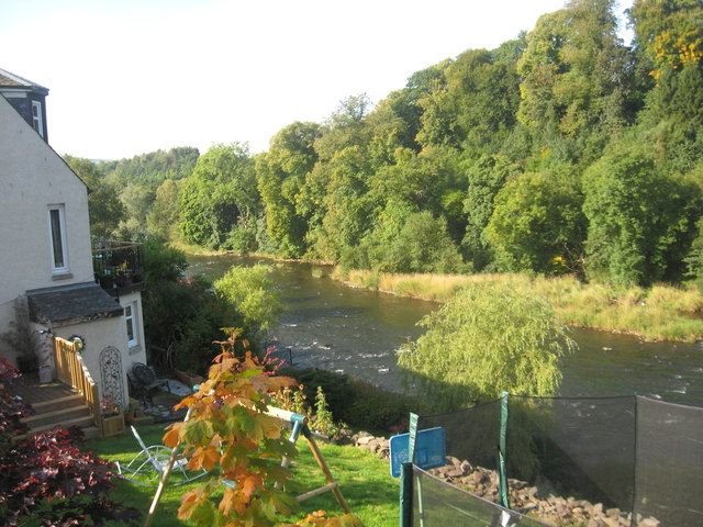 The River Clyde leaving Lanark