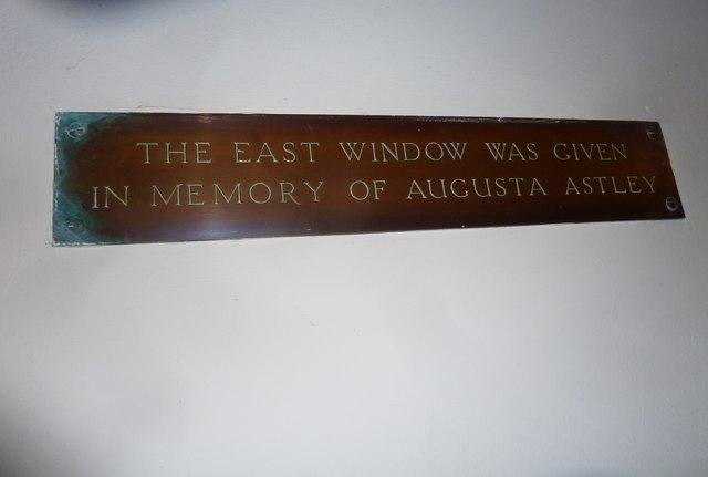 St Aldhelm, Bishopstrow: memorial (d)