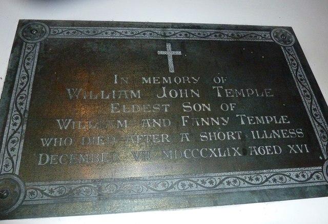 St Aldhelm, Bishopstrow: memorial (e)