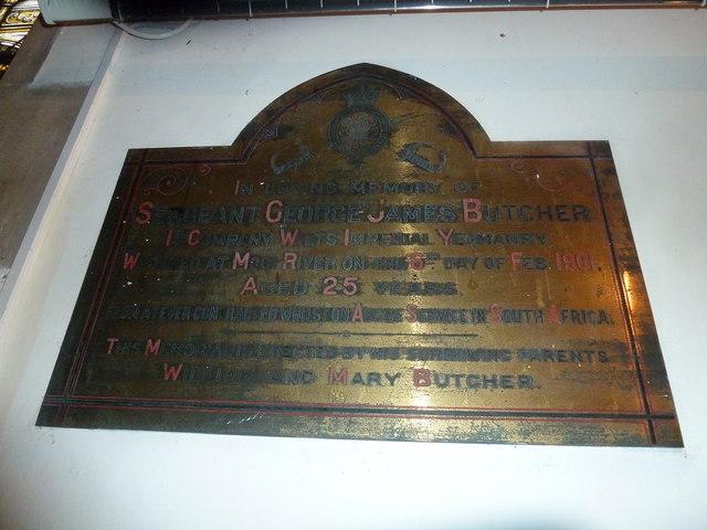 St Aldhelm, Bishopstrow: memorial (f)