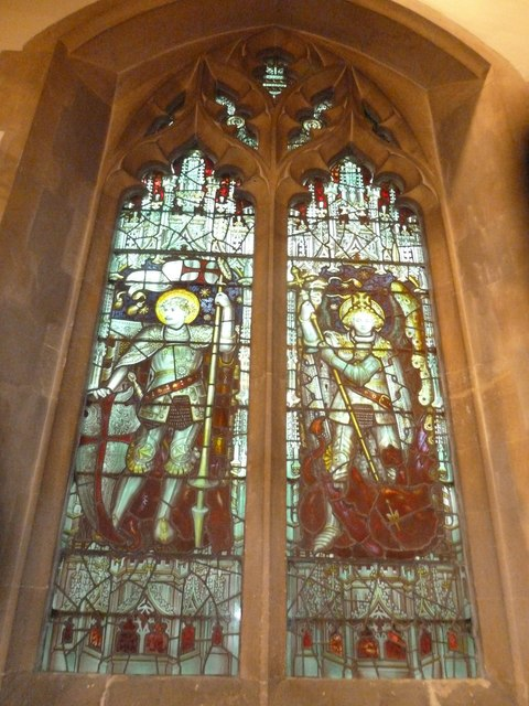 St Aldhelm, Bishopstrow: stained glass window (iii)