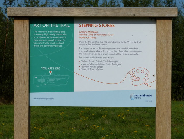 Art on the trail information board