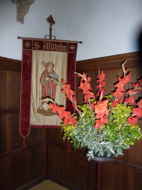 St Aldhelm, Bishopstrow: banner