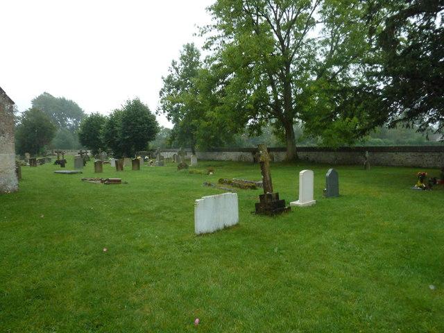 St Aldhelm, Bishopstrow: a rainy churchyard