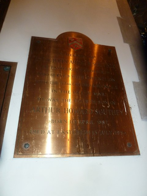 St Aldhelm, Bishopstrow: memorial (u)