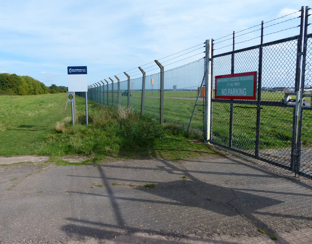 Emergency gate at East Midlands Airport