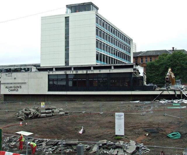 Allan Glen's Campus demolition