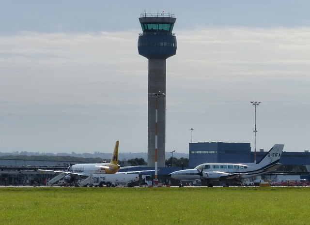 View towards the control tower