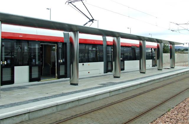 Tram at Edinburgh Airport station