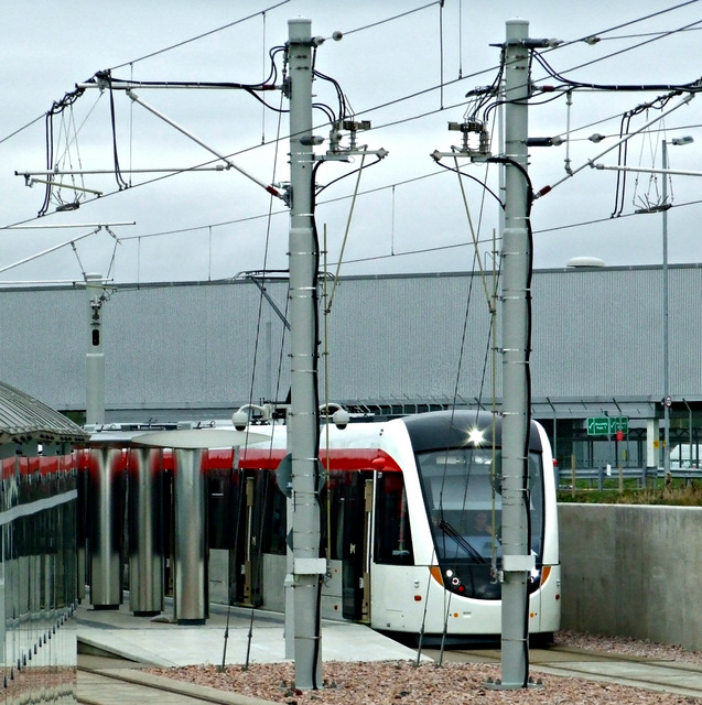 Tram at Edinburgh Airport station