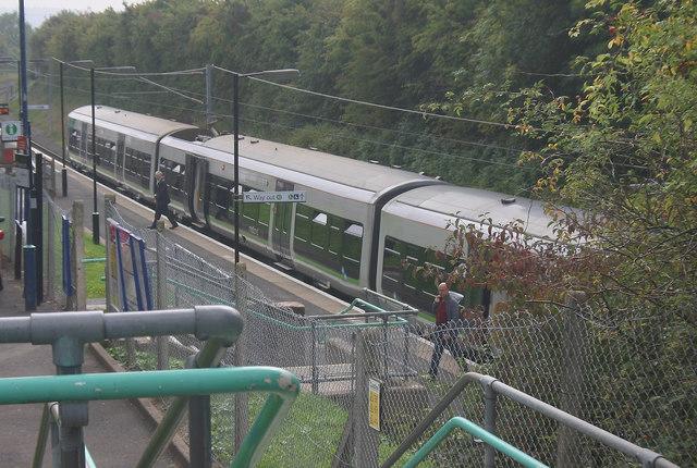 Train arrival at Alvechurch