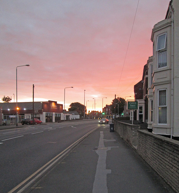 Radcliffe Road at sunrise