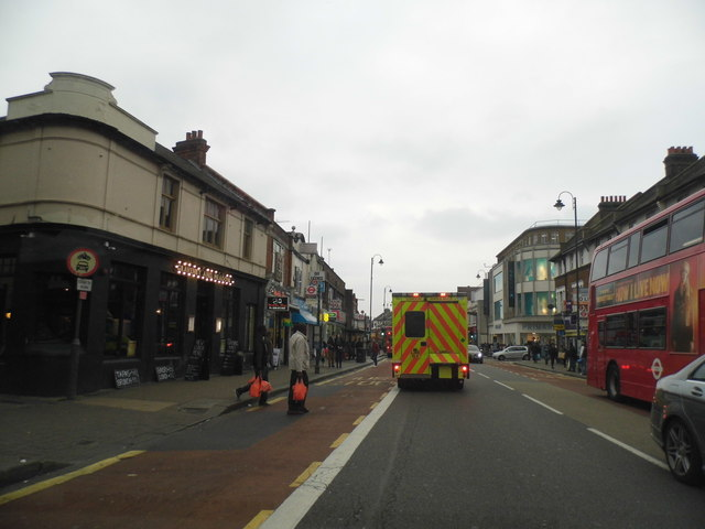 Shops on Mitcham Road at Tooting Broadway