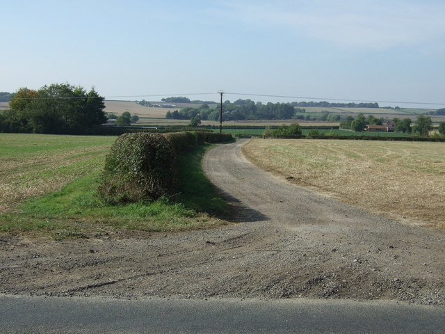 Farm track off Louth Road