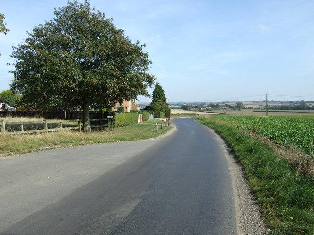 Lane heading east