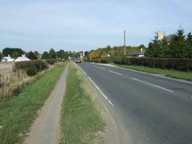 A153 heading north