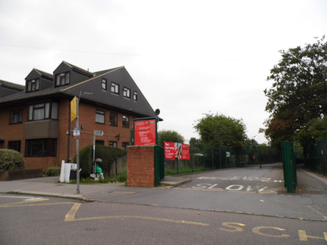 The entrance to Norbury Manor School for girls