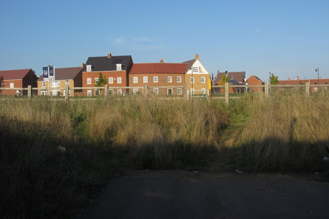 Footpath to new housing estate