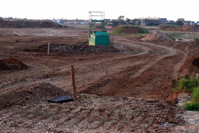 Building work on the flood plain