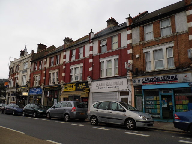 Parade of shops on Mitcham Road,Tooting