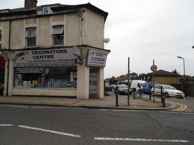 Decorators Centre on the corner of Streatham Road and Links Road