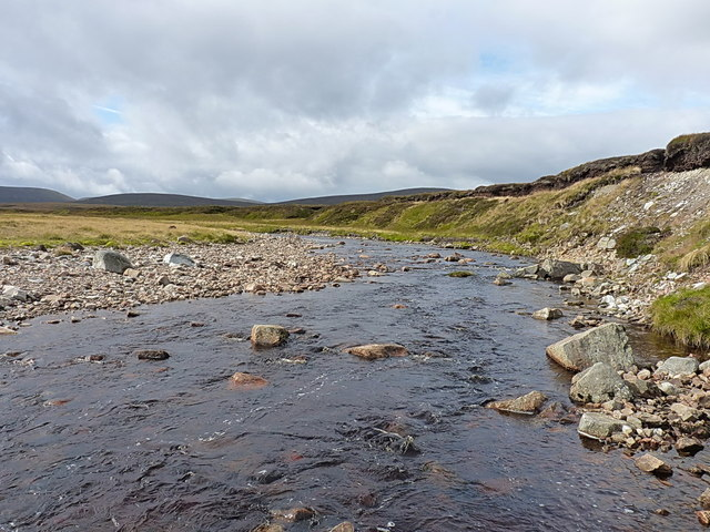 Eroding moraine in the upper Feshie valley