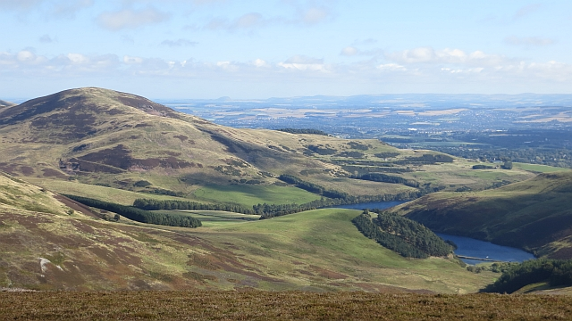 Castlelaw Hill and Glencorse Reservoir