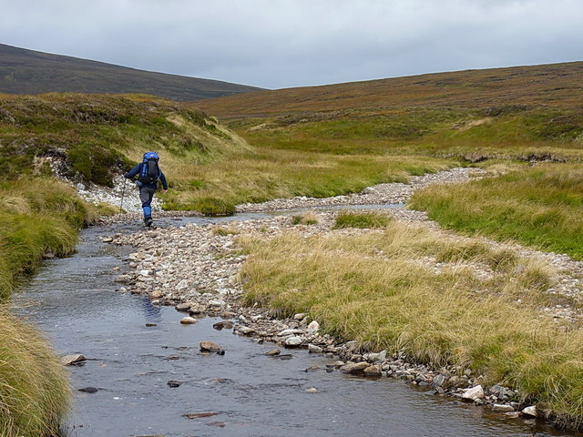 Fording the upper Feshie