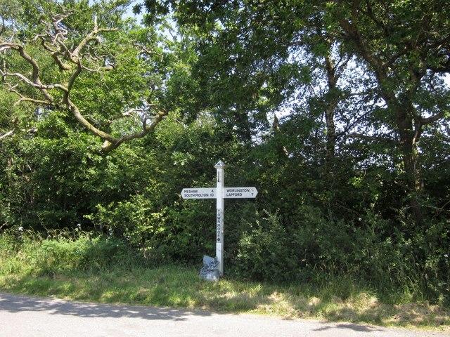 Signpost, Town Moor Cross