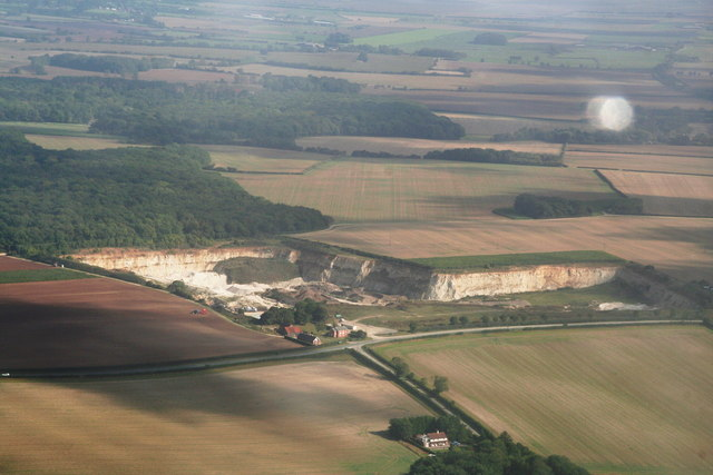 Welton le Marsh Quarry and Recycling Centre (aerial 2013)