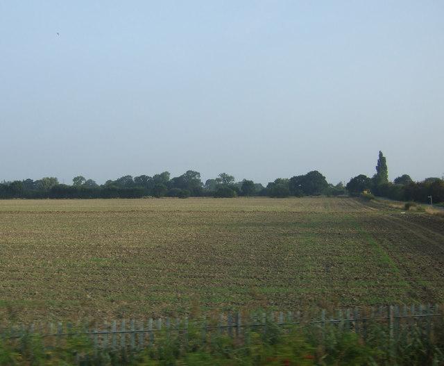 Farmland east of Wike Well End