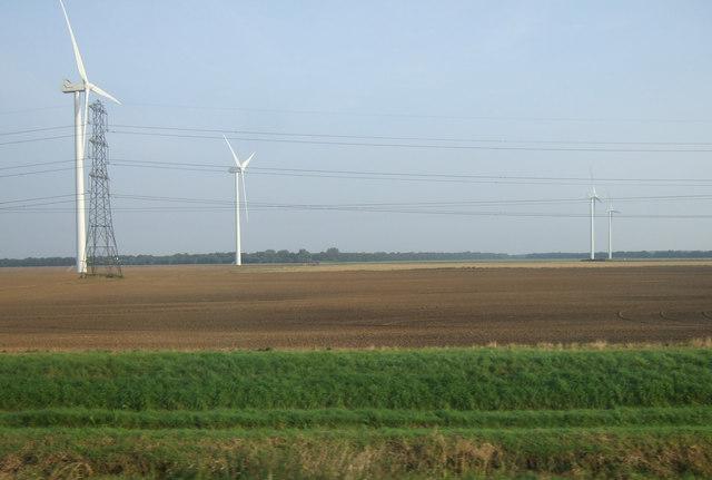 Farmland north of the North Soak Drain
