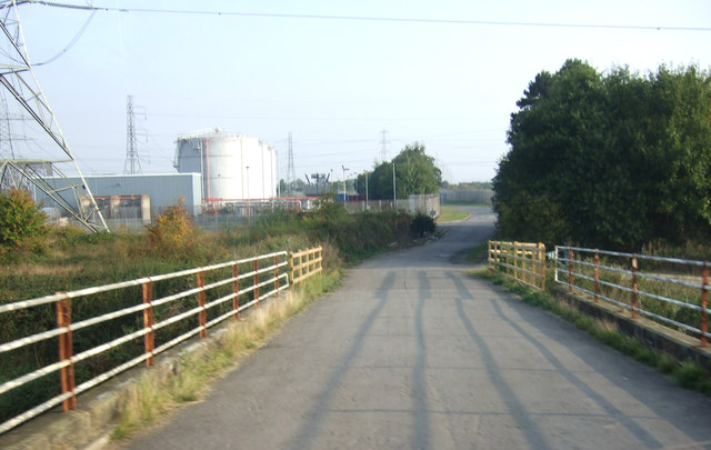 Track to power station, Vazon Bridge