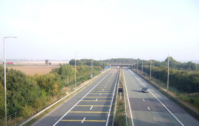 M181 heading north, Scunthorpe