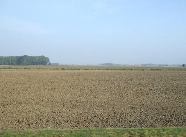 Flat farmland, Appleby Carrs