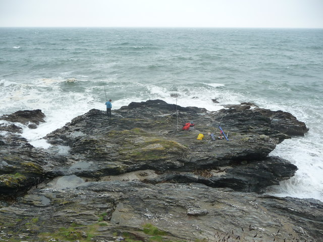 Sea fishing near Portscatho