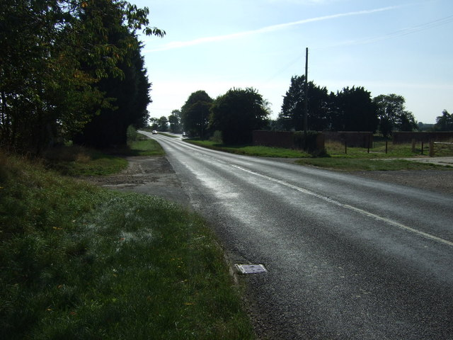 A153 heading south at Dalderby