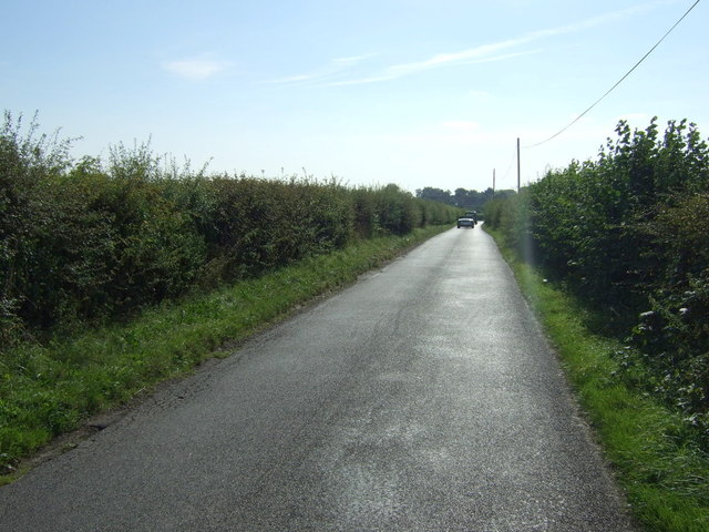 Minor road heading south
