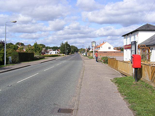 B1149 Holt Road & Mill Lane Postbox