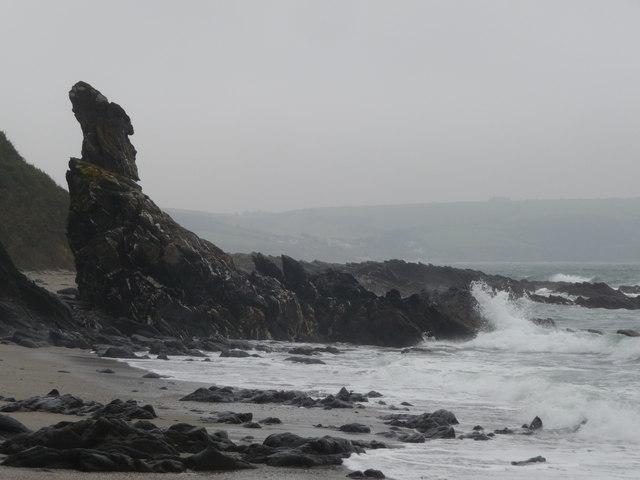Old Man of the Sea, Porthbean Beach