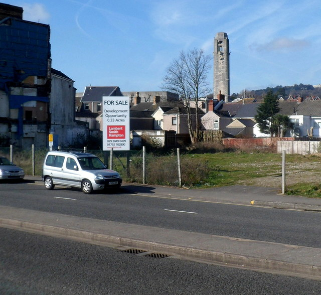 Development site in Oystermouth Road Swansea