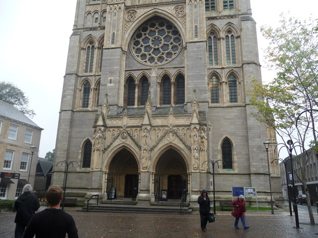 Part of the West Front, Truro Cathedral