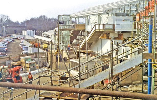 Hillingdon: new station under construction, 1993