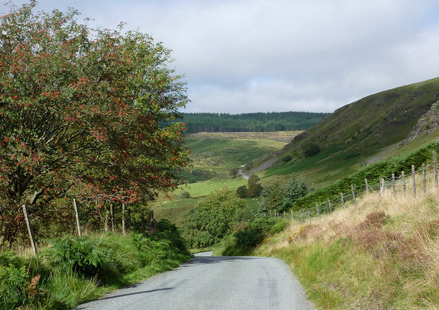 Mountain road in Cwm Tywi, Powys