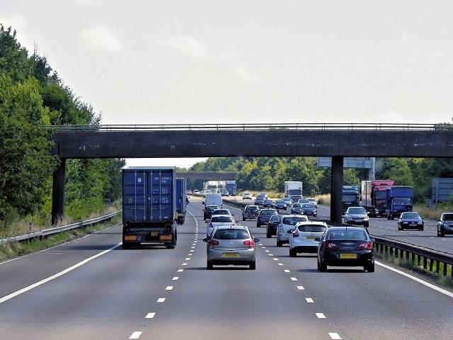 Footbridge over the M6 at Corley Moor