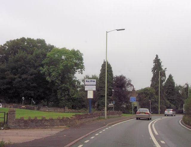 Pontesford Hill turning from A488