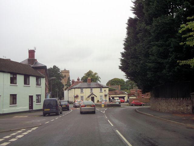 Approaching Pontesbury centre on A488